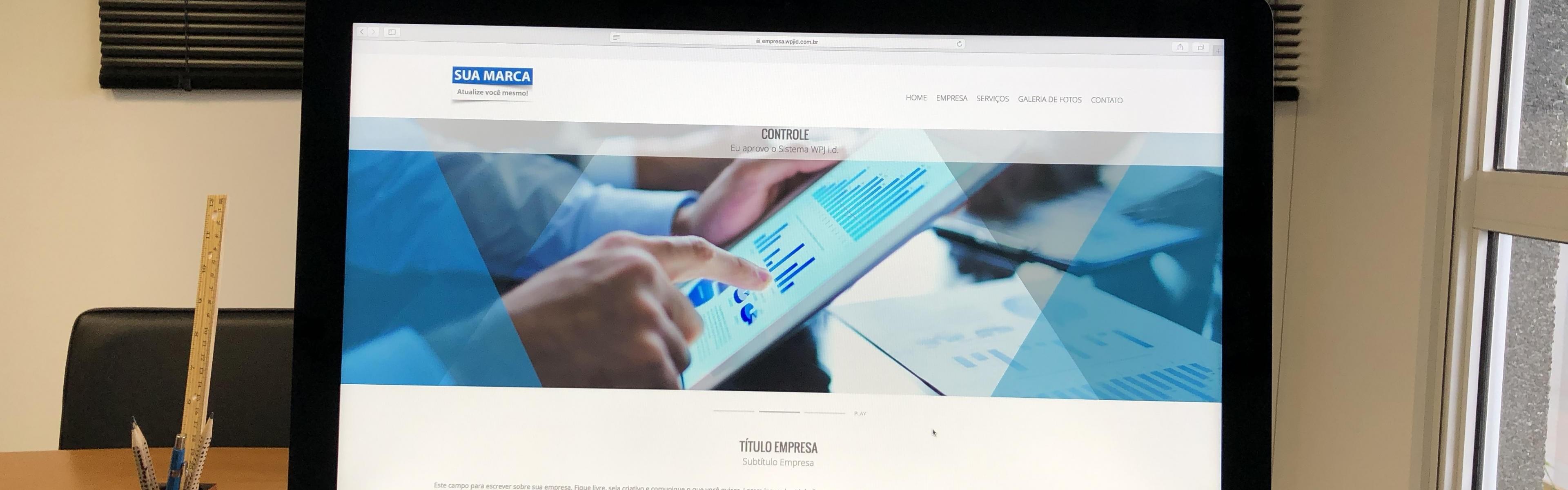 Sistema WPJ i.d. GLIDE, feito para você criar seu site.